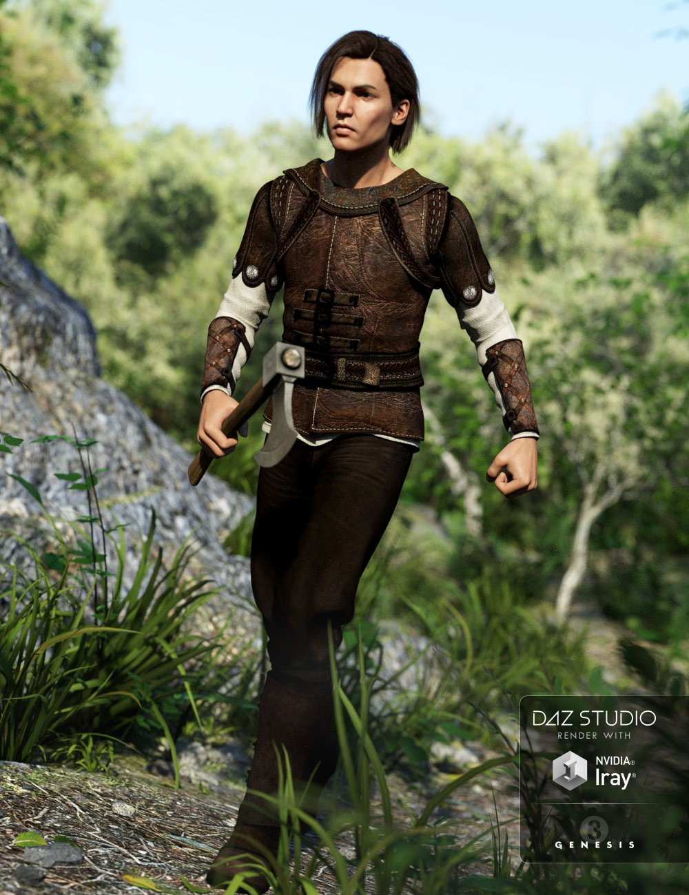 The Huntsman Outfit for Genesis 3 Male(s) by: Barbara Brundon, 3D Models by Daz 3D