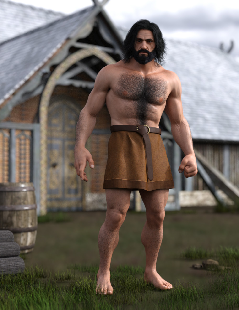 Lord of the Bears HD for Genesis 2 Male by: GhostofMacbeth, 3D Models by Daz 3D