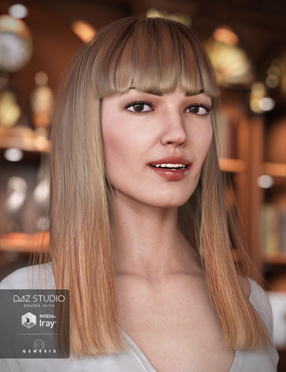 Avelyn Hair for Genesis 3 Female(s) by: EmmaAndJordi, 3D Models by Daz 3D