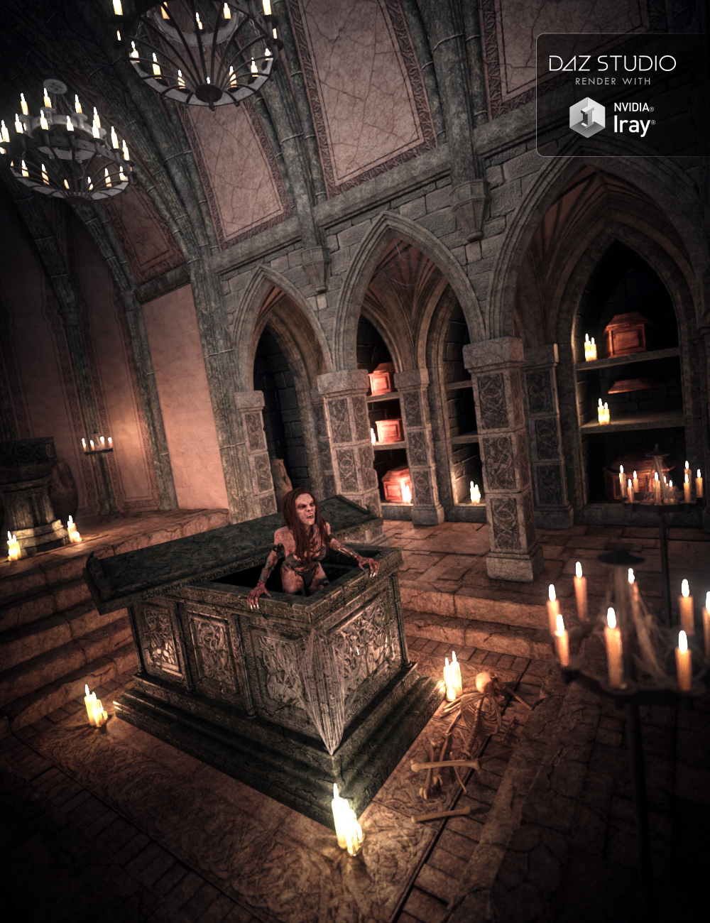 Immortal Crypt by: Merlin Studios, 3D Models by Daz 3D