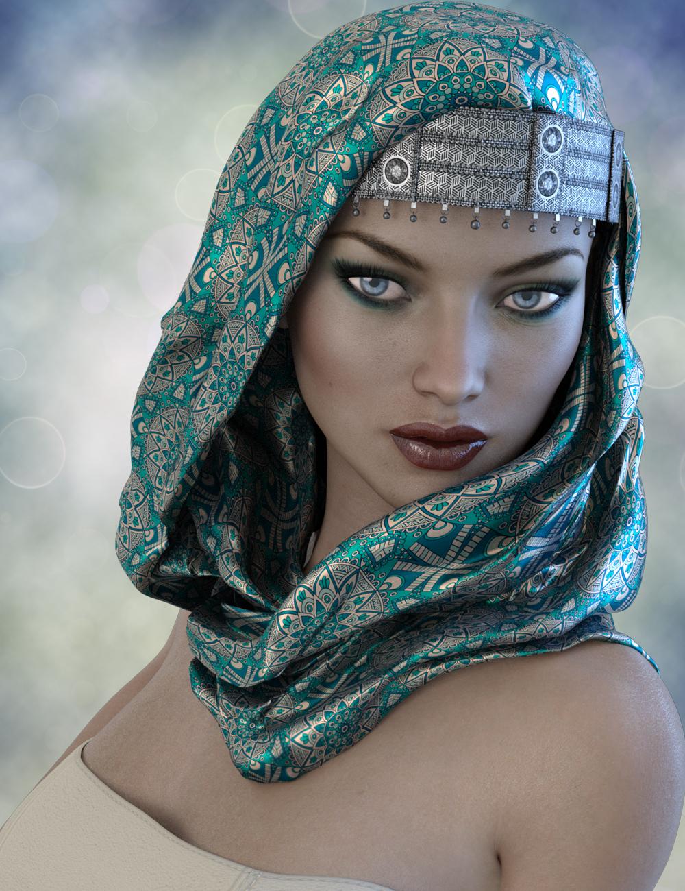 X-Fashion Turban Scarf for Genesis 3 Female(s) by: xtrart-3d, 3D Models by Daz 3D