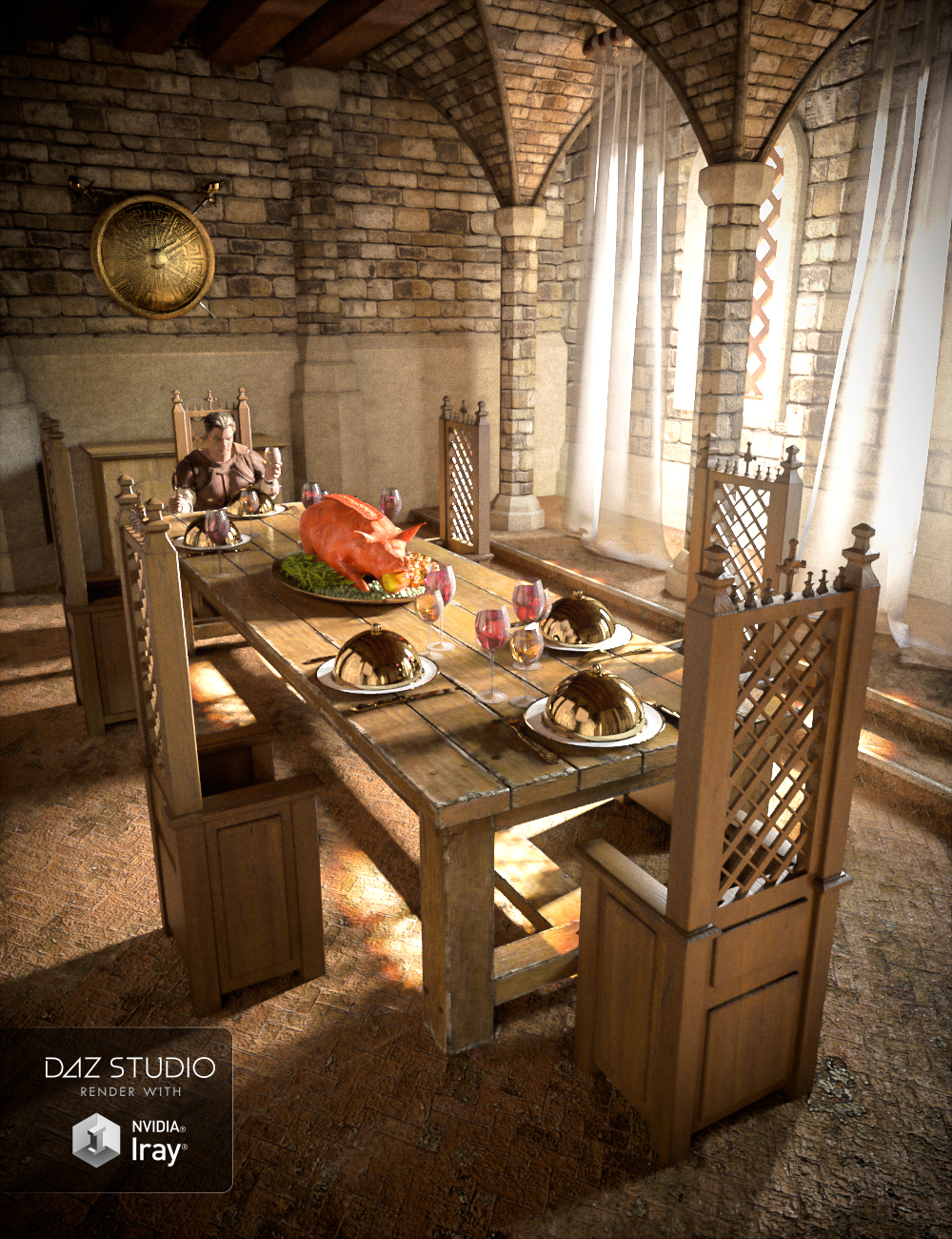 Ancient Room by: powerage, 3D Models by Daz 3D