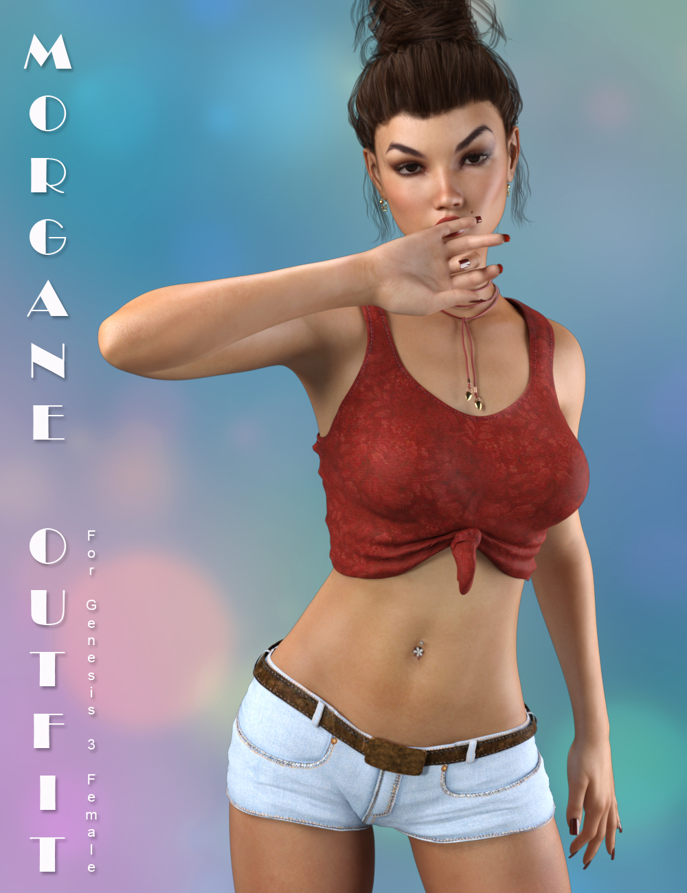 Morgane Outfit for Genesis 3 Female(s) by: SWAMP3Design, 3D Models by Daz 3D