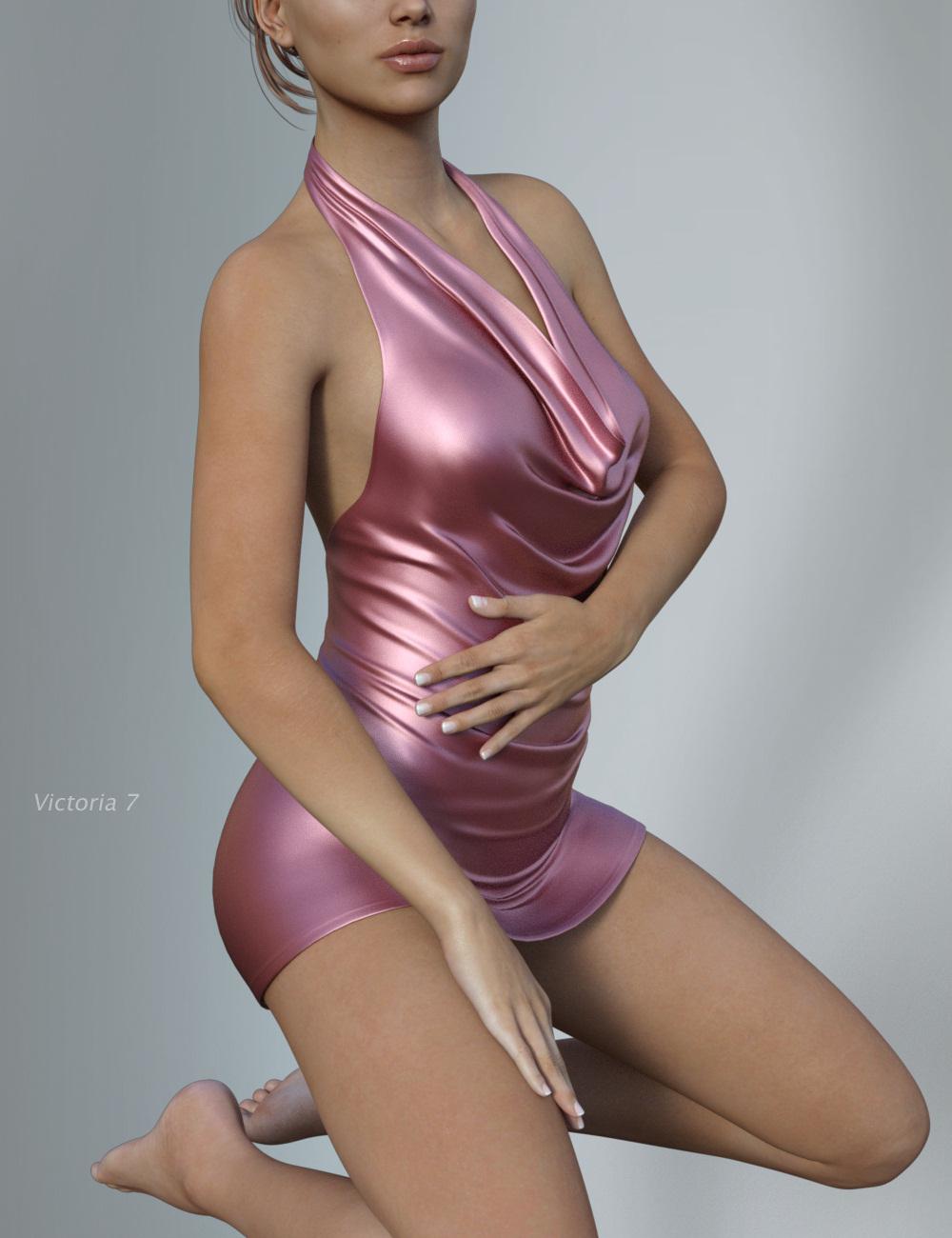 Hongyu's Mini-Dress for Victoria 7 by: hongyu, 3D Models by Daz 3D