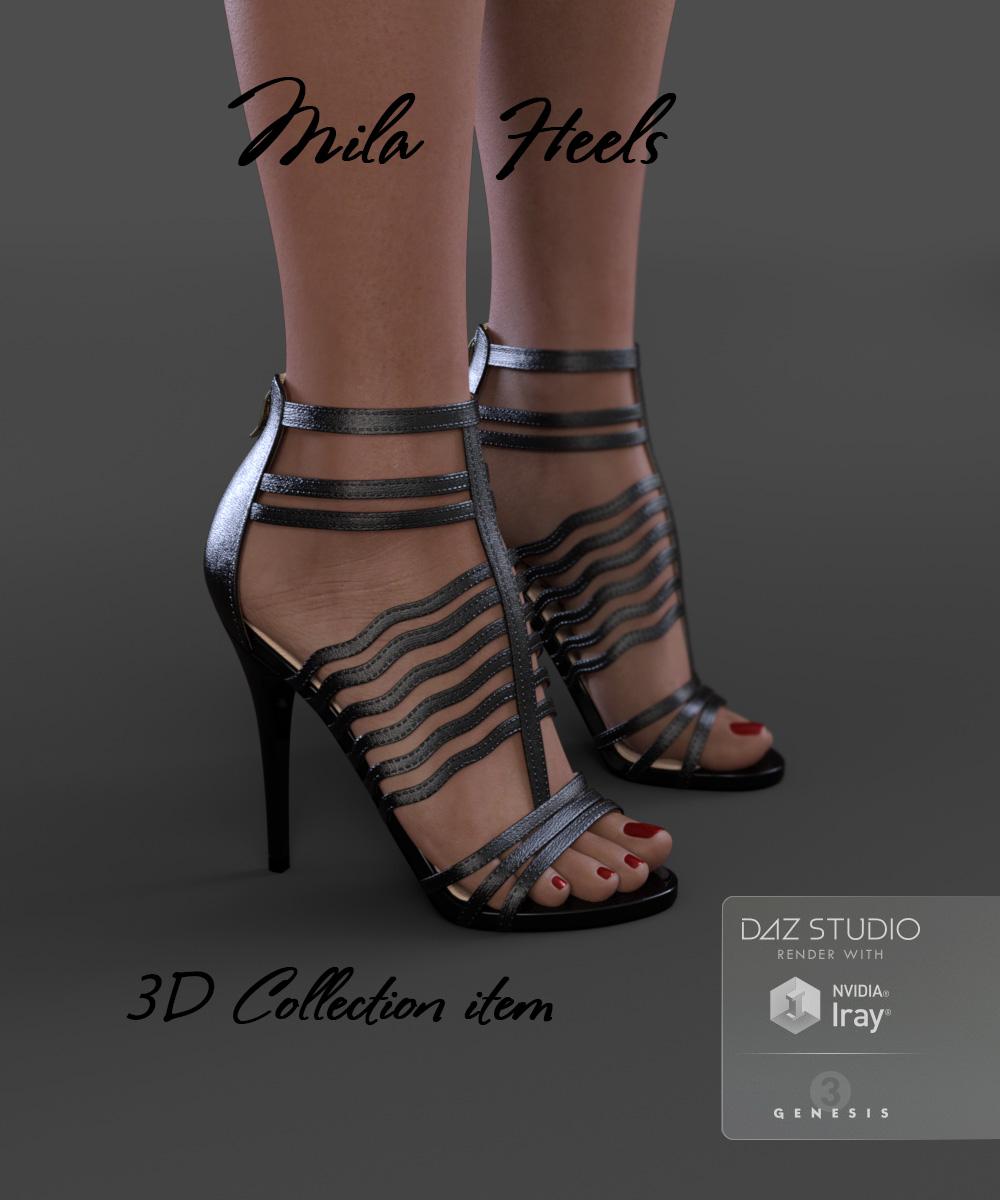 Mila Heels for Genesis 3 Female(s) by: Arryn, 3D Models by Daz 3D