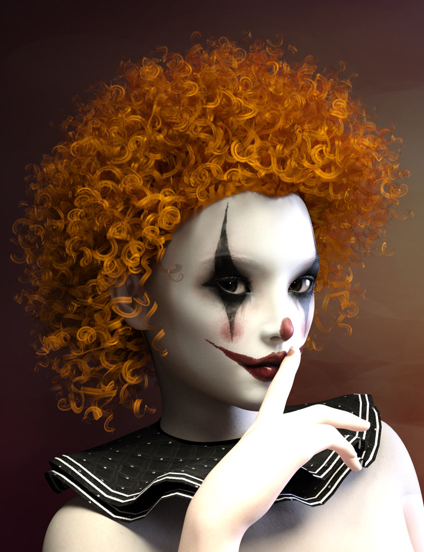 Clown Wigs for Genesis 3 Male(s) and Female(s) by: Prae, 3D Models by Daz 3D