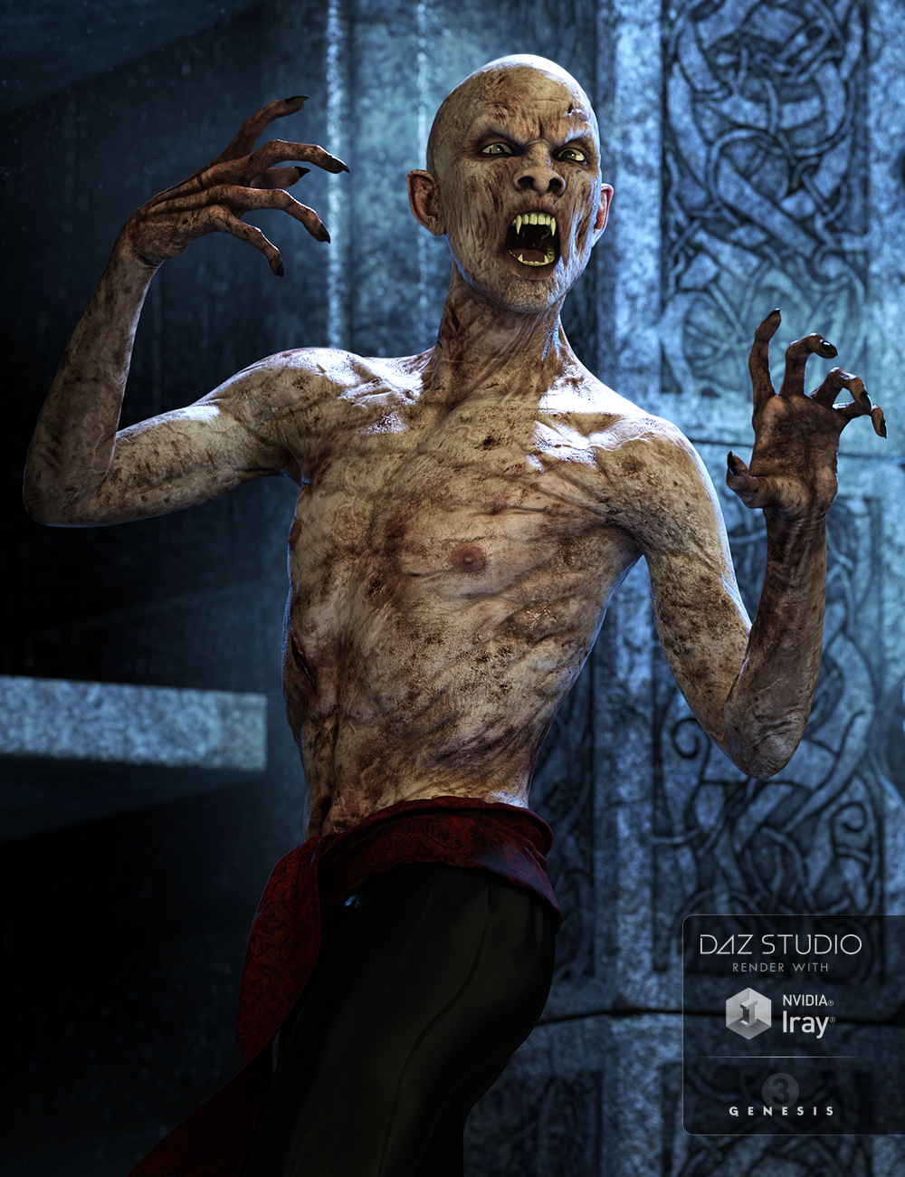 Mathius Vampire for Genesis 3 Male(s) by: , 3D Models by Daz 3D