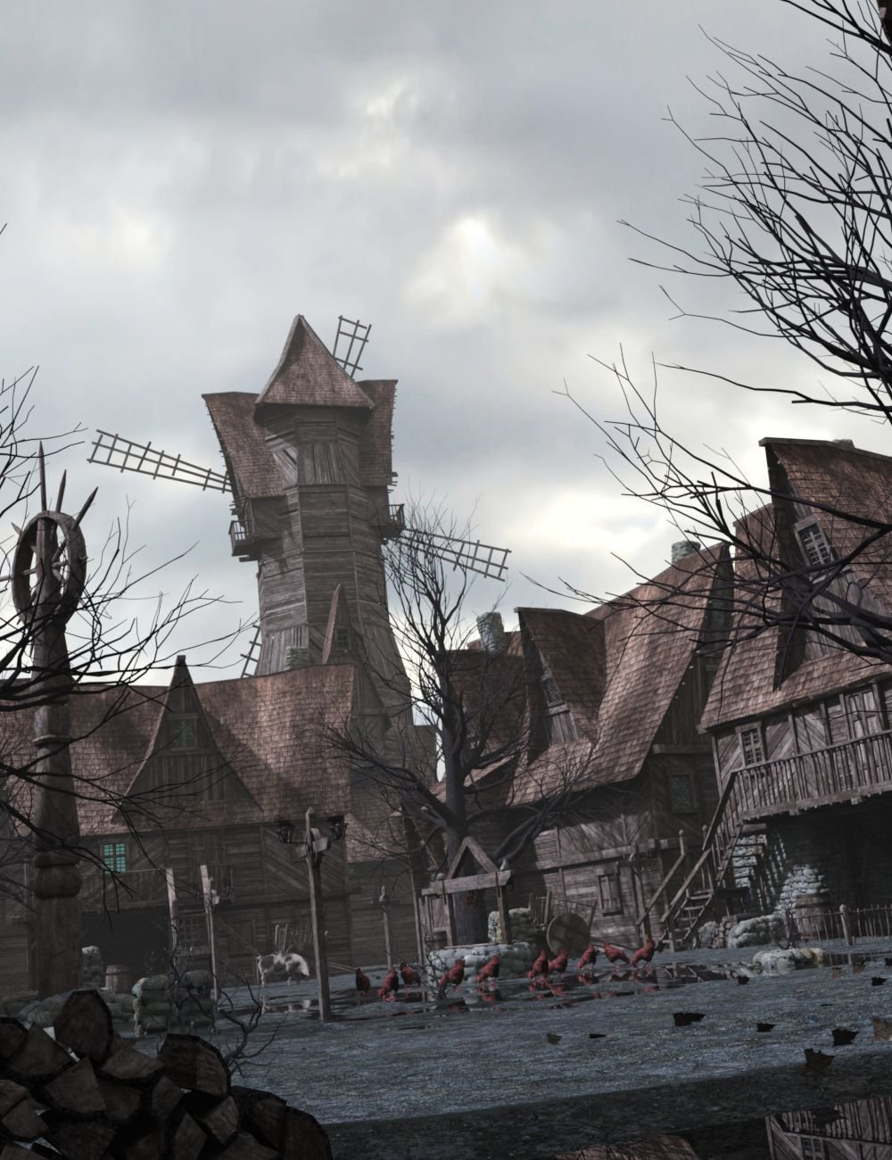 Forsaken Village and Construction Set by: DzFire, 3D Models by Daz 3D