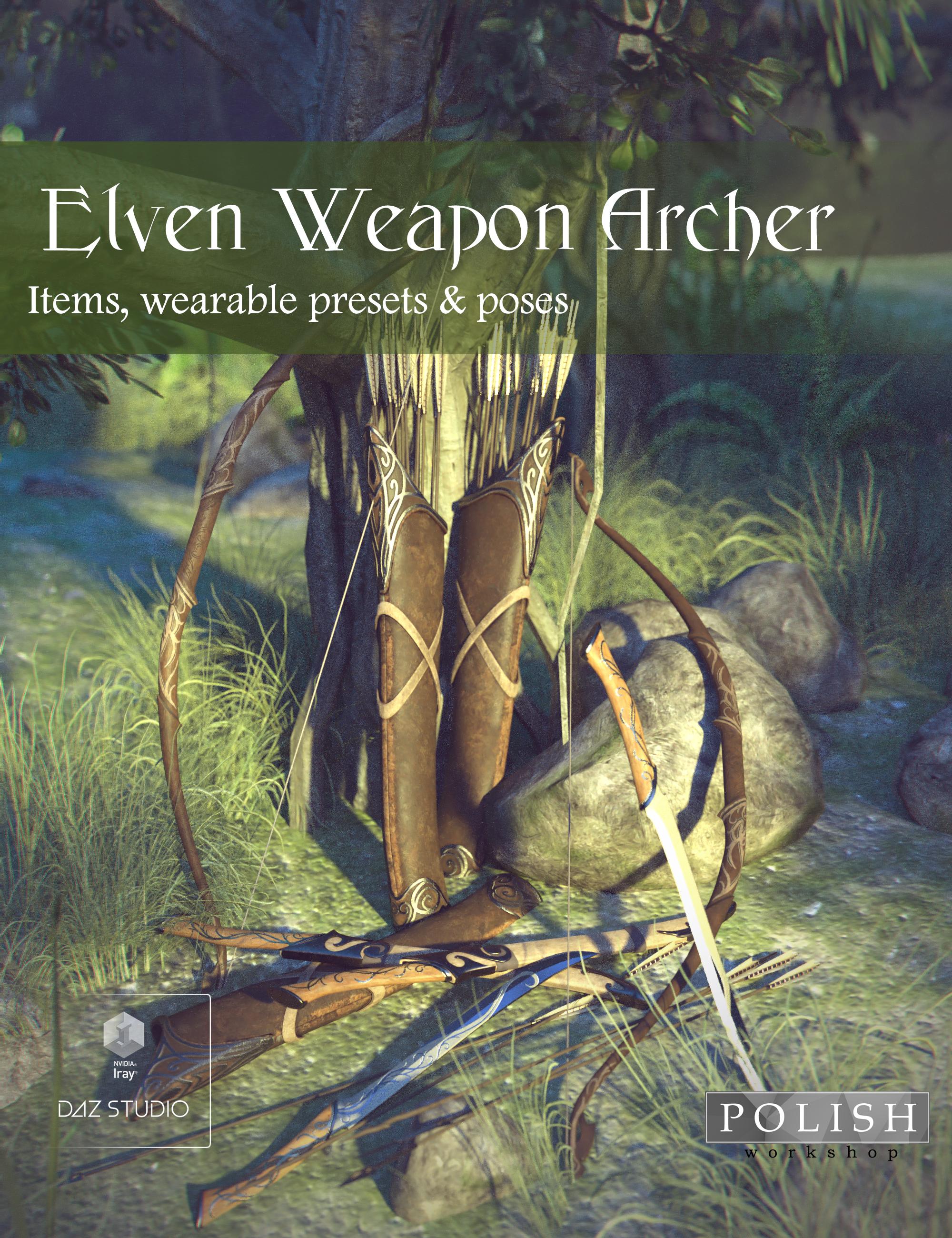 Elven Weapon Archer by: Polish, 3D Models by Daz 3D