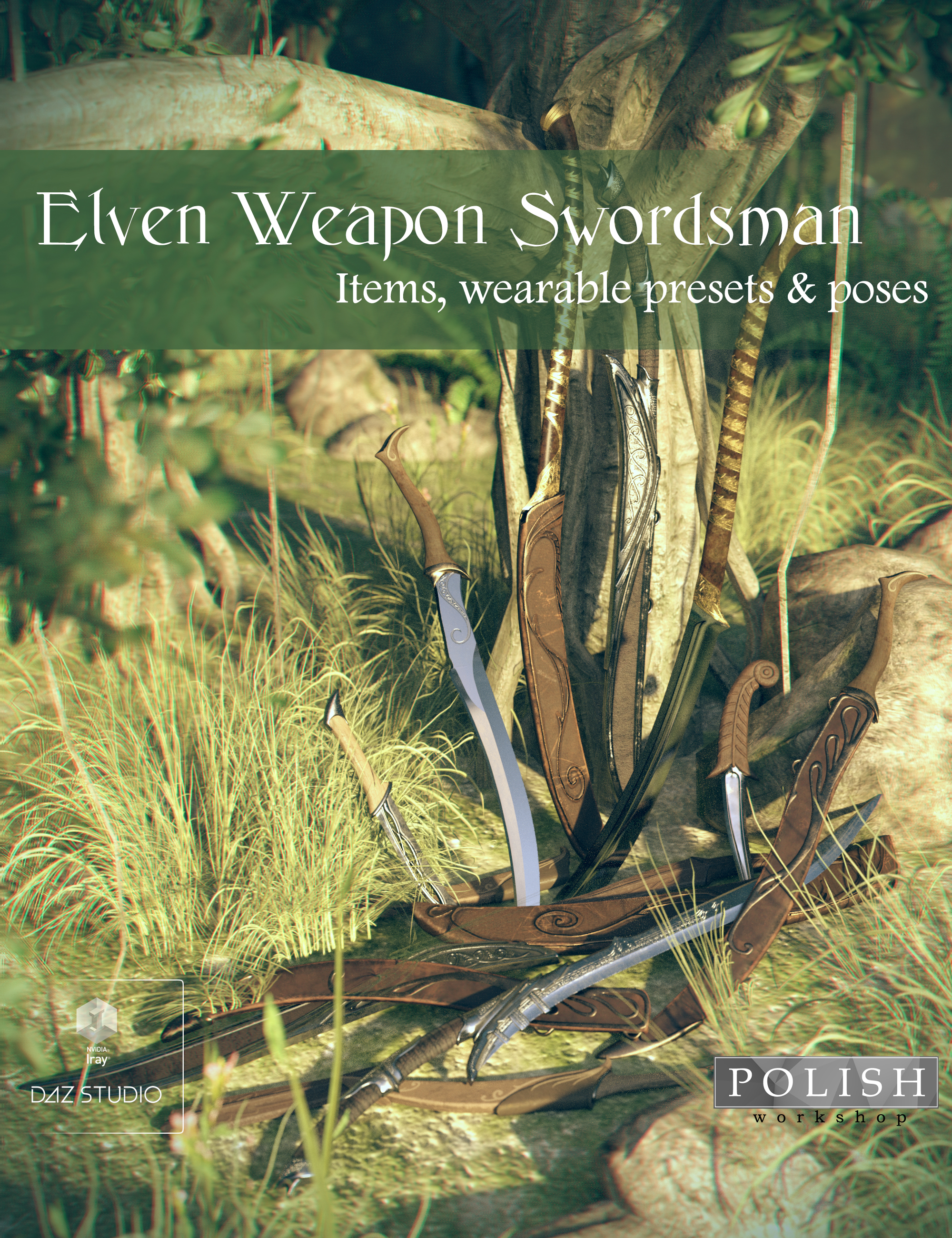 Elven Weapon Swordsman by: Polish, 3D Models by Daz 3D