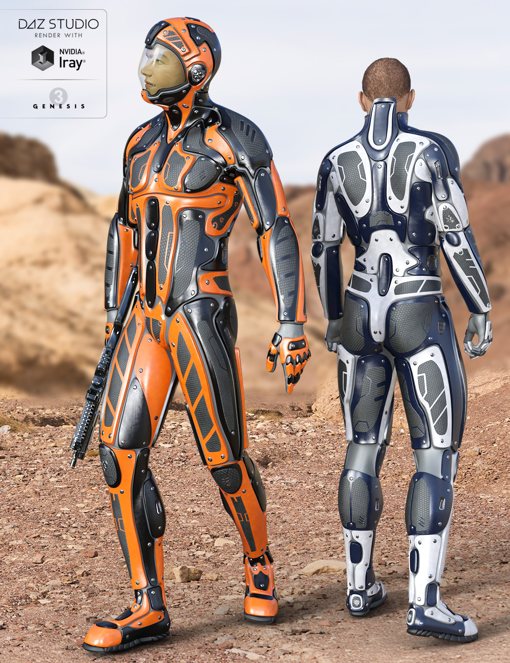 Viper Suit for Genesis 3 Male(s) by: midnight_stories, 3D Models by Daz 3D