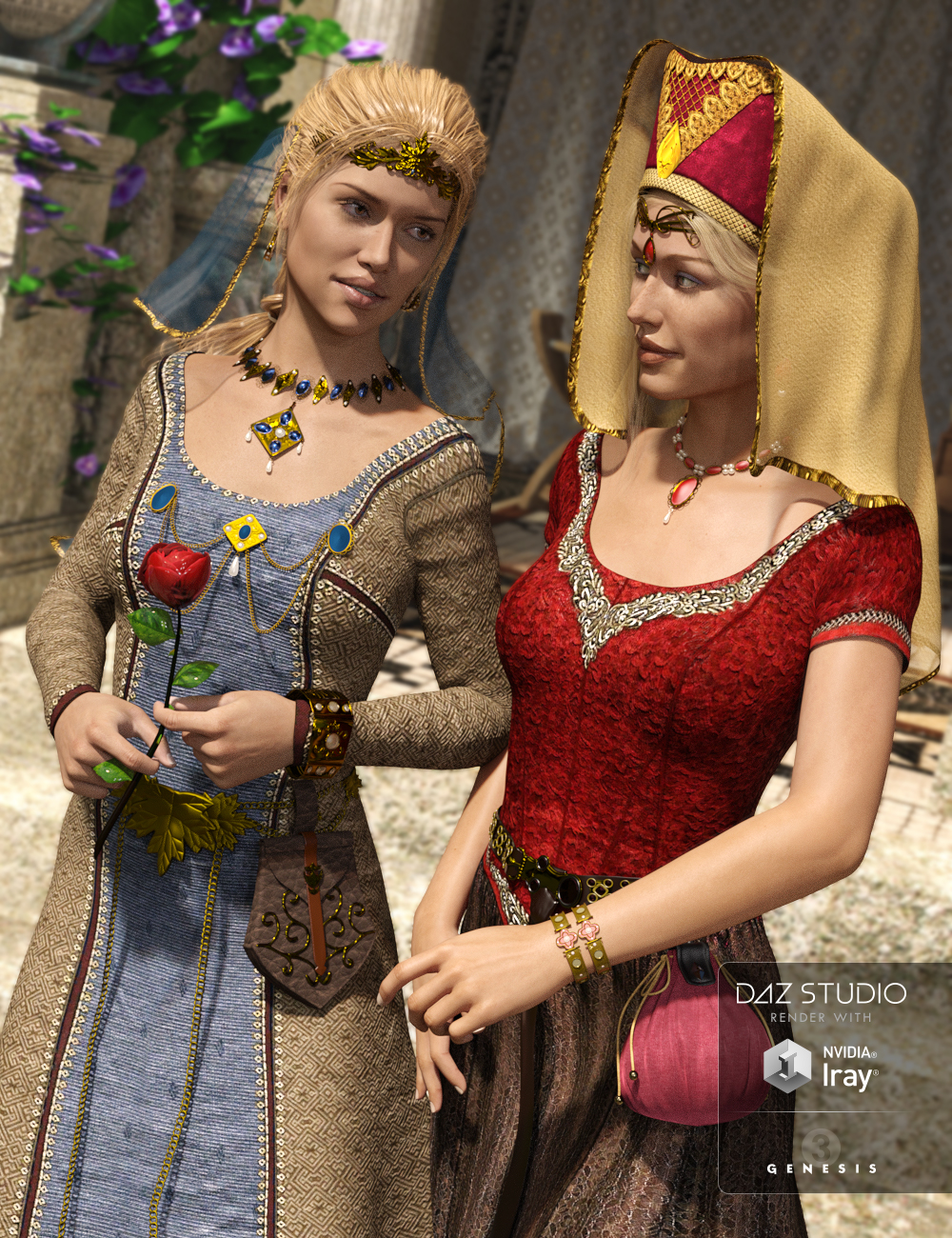 Medieval Fantasy Accessories for Genesis 3 Female(s) by: JGreenleesPoisenedLily, 3D Models by Daz 3D