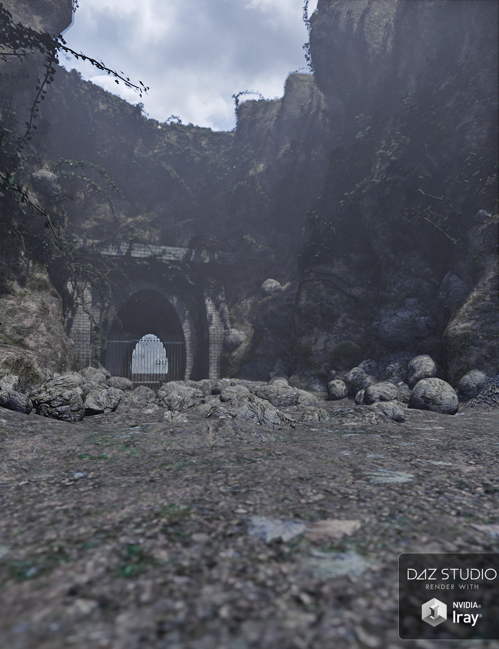 Forgotten Tunnel Entrance by: David BrinnenForbiddenWhispers, 3D Models by Daz 3D