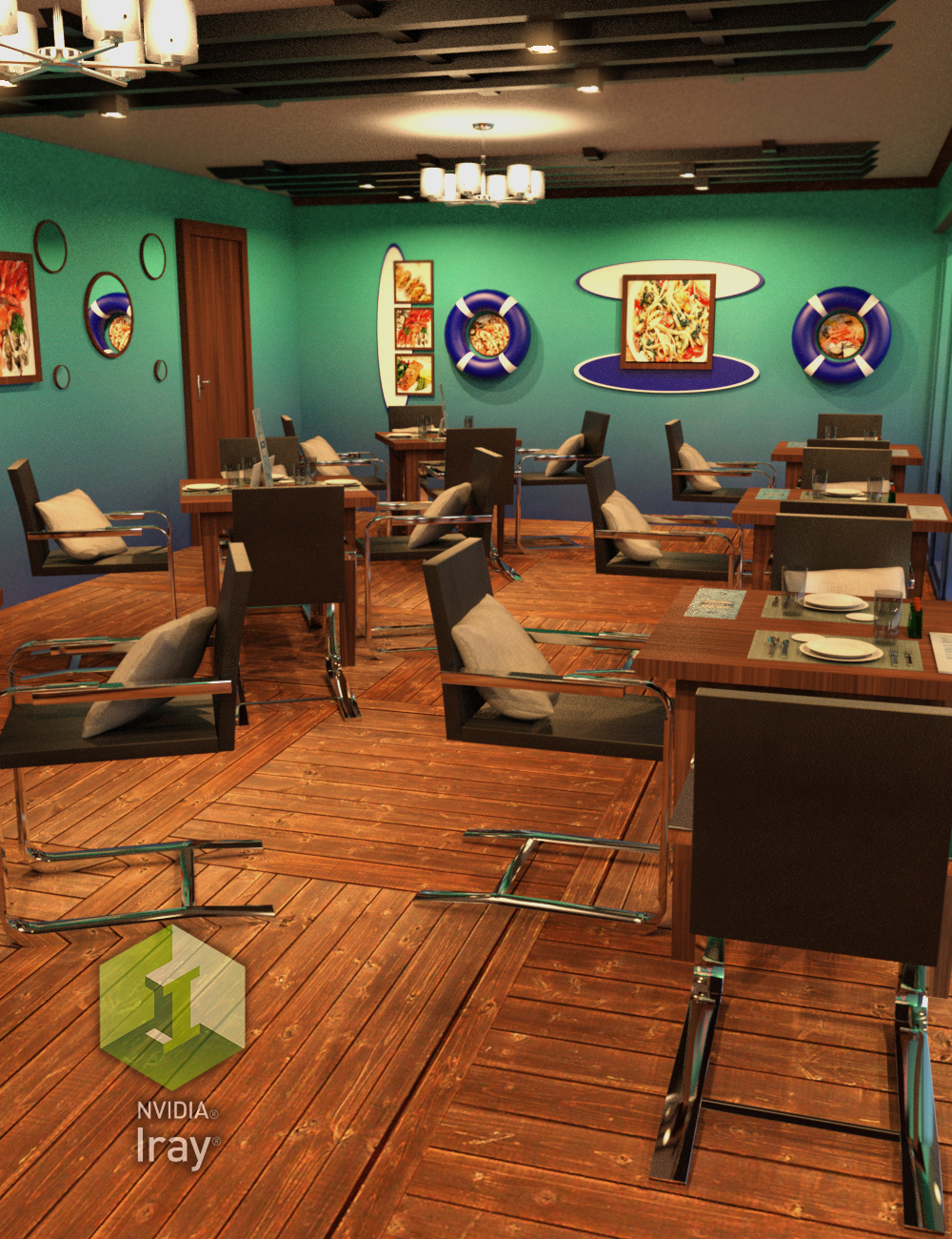 Seafood Restaurant by: Tesla3dCorp, 3D Models by Daz 3D