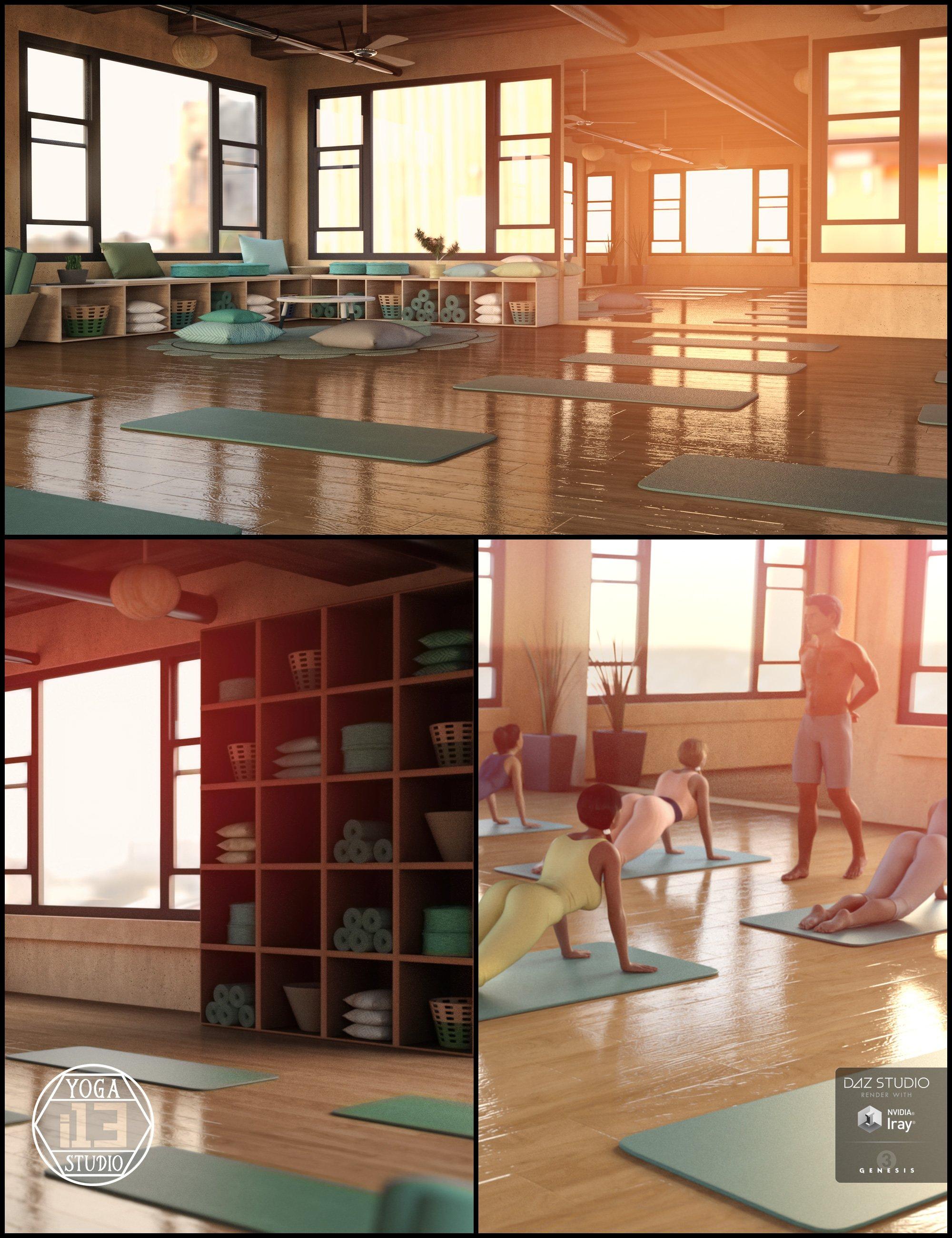 i13 Yoga Studio Environment by: ironman13, 3D Models by Daz 3D