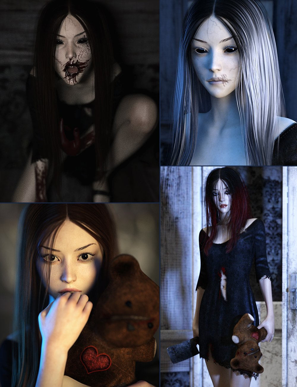Lost Urchin Halloween Bundle by: , 3D Models by Daz 3D