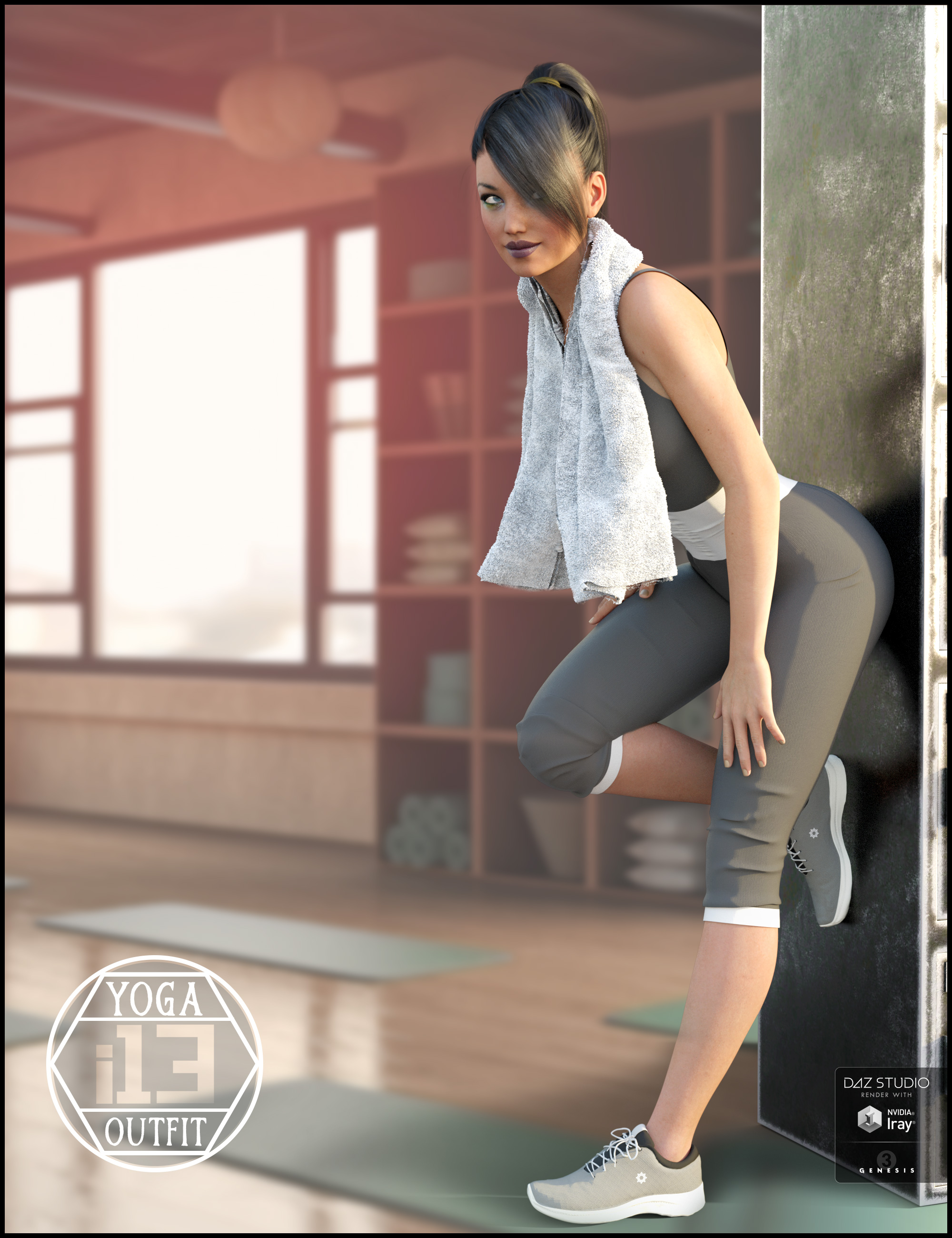 i13 Yoga Outfit for the Genesis 3 Female(s) by: ironman13, 3D Models by Daz 3D