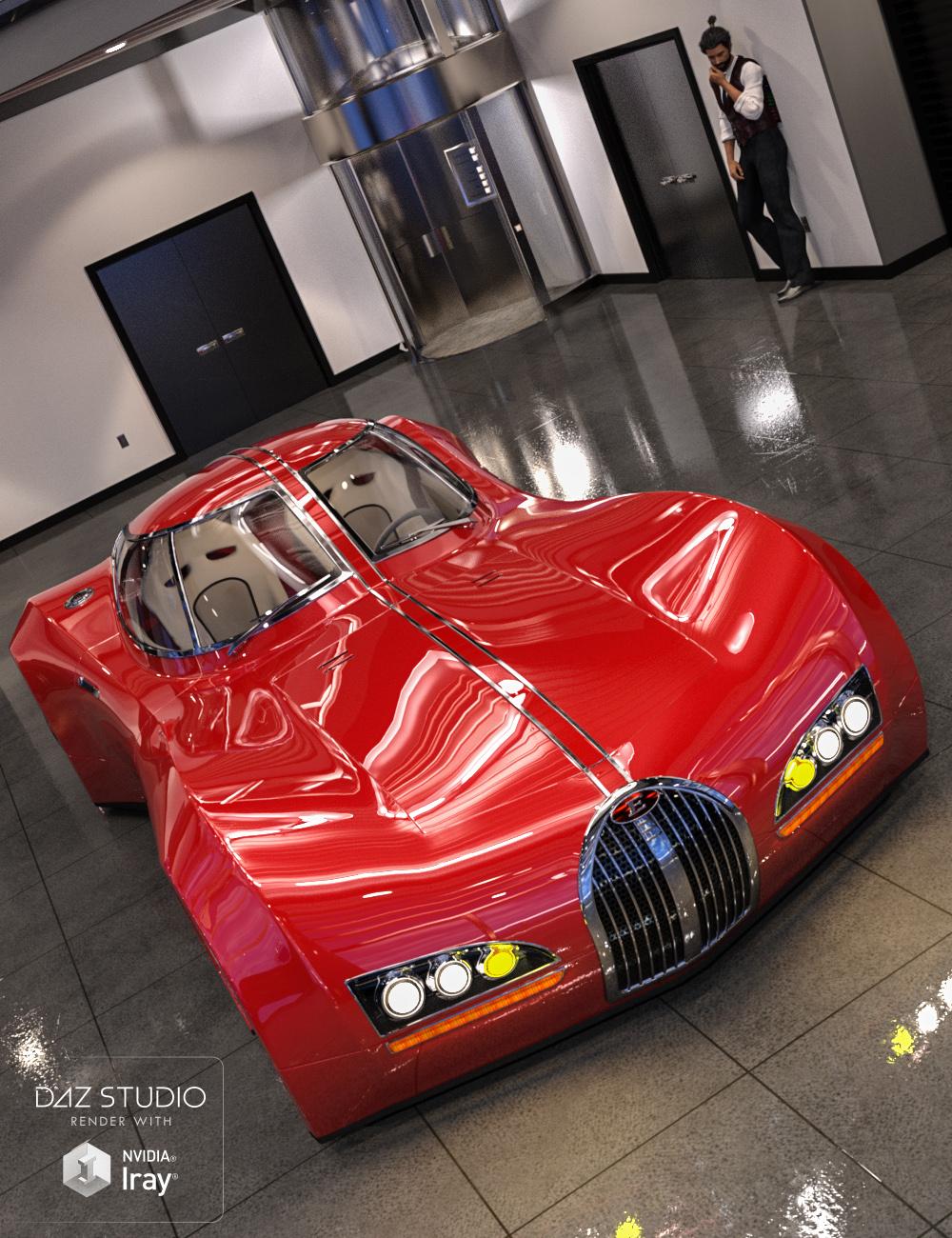Sports Car Emexon Iray by: Dumor3D, 3D Models by Daz 3D