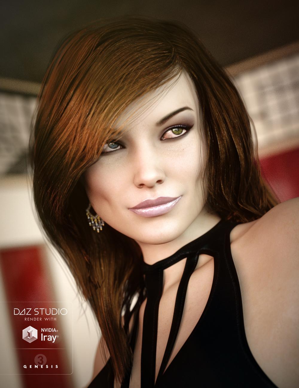 Garden Party Hair for Genesis 3 Female(s) by: goldtassel, 3D Models by Daz 3D