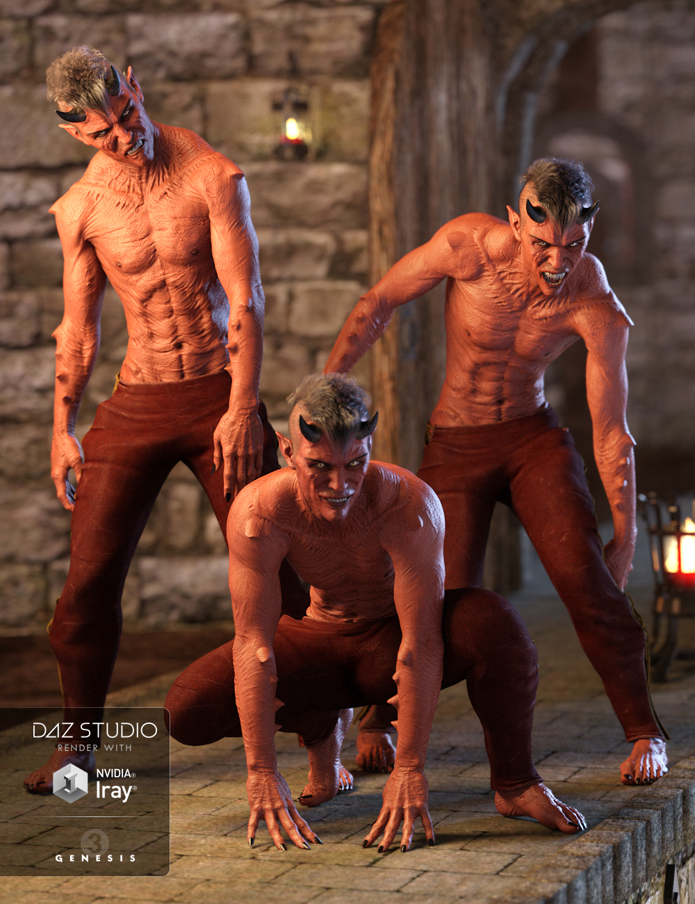 Night Creatures Poses and Expressions Set for Genesis 3 Male(s) by: Val3dart, 3D Models by Daz 3D