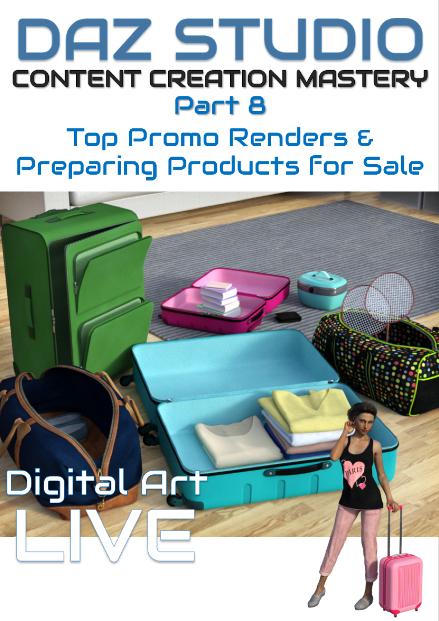 Daz Studio Content Creation Mastery Part 8 : Rendering Top Promos & Preparing Products for Sale by: Digital Art Liveesha, 3D Models by Daz 3D