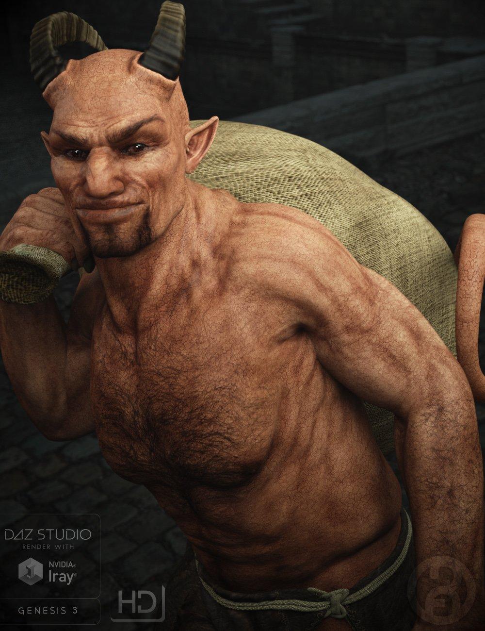 Krampus Demon for Genesis 3 Male by: RawArt, 3D Models by Daz 3D