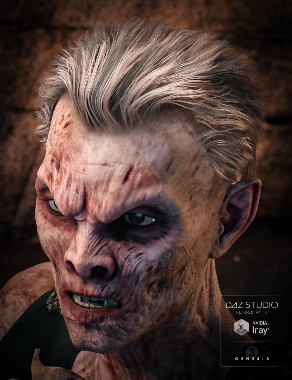 Mathius Hair for Genesis 3 Male(s) by: goldtassel, 3D Models by Daz 3D
