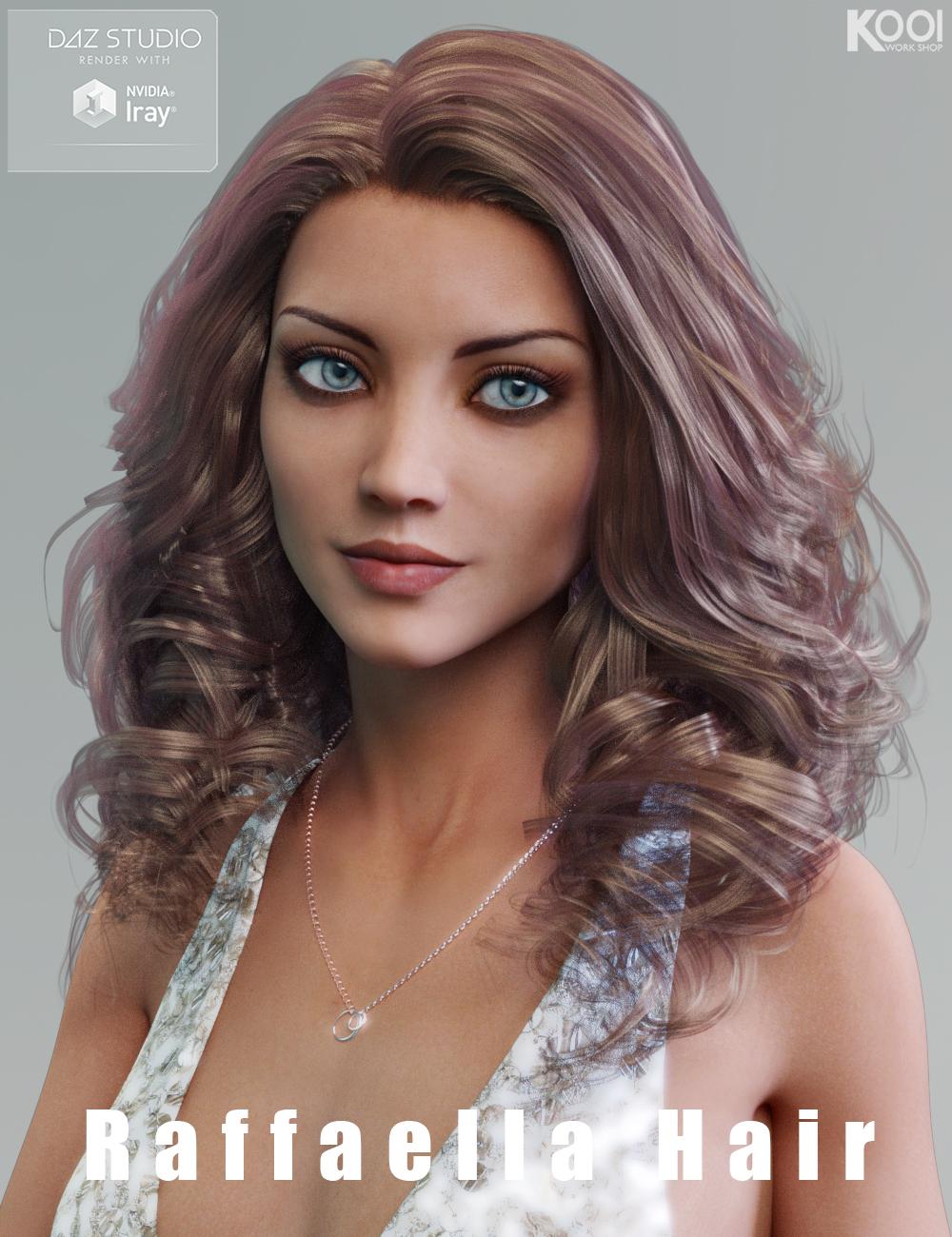 Raffaella Hair for Genesis 3 Female(s) by: Kool, 3D Models by Daz 3D