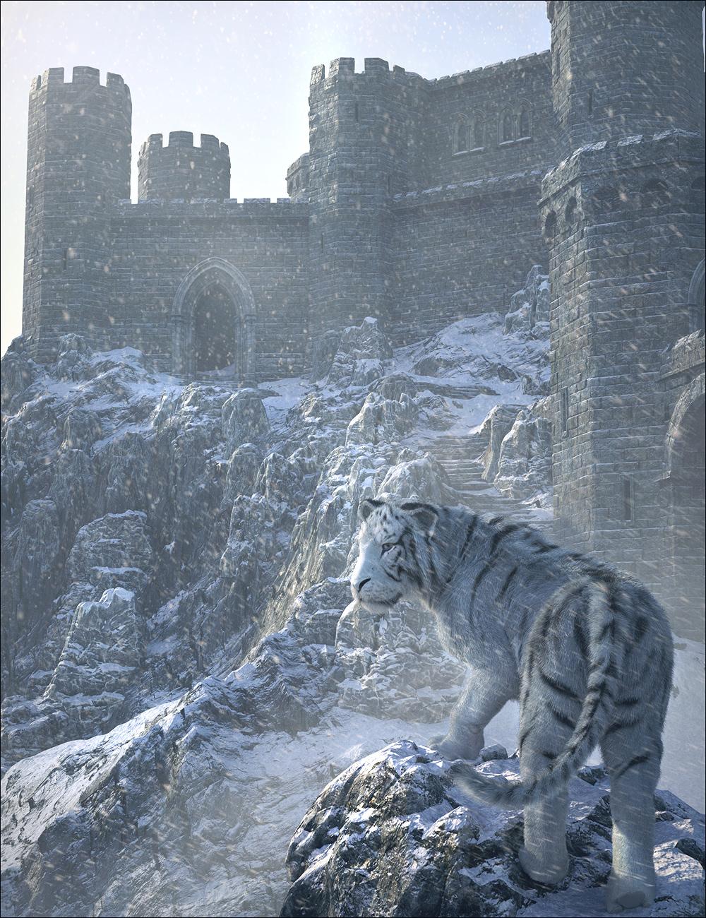 Winter Castle by: , 3D Models by Daz 3D
