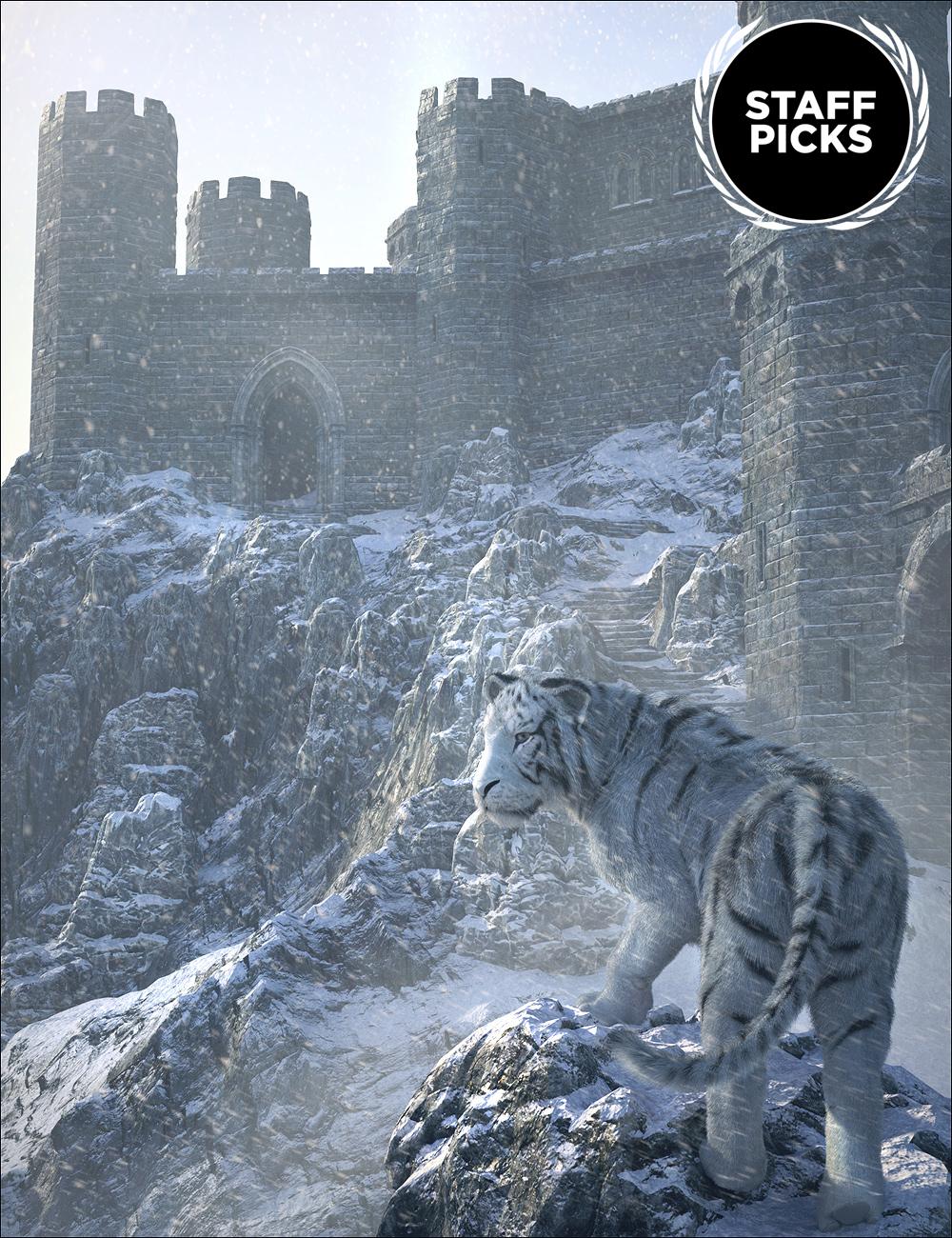 Winter Castle by: Stonemason, 3D Models by Daz 3D