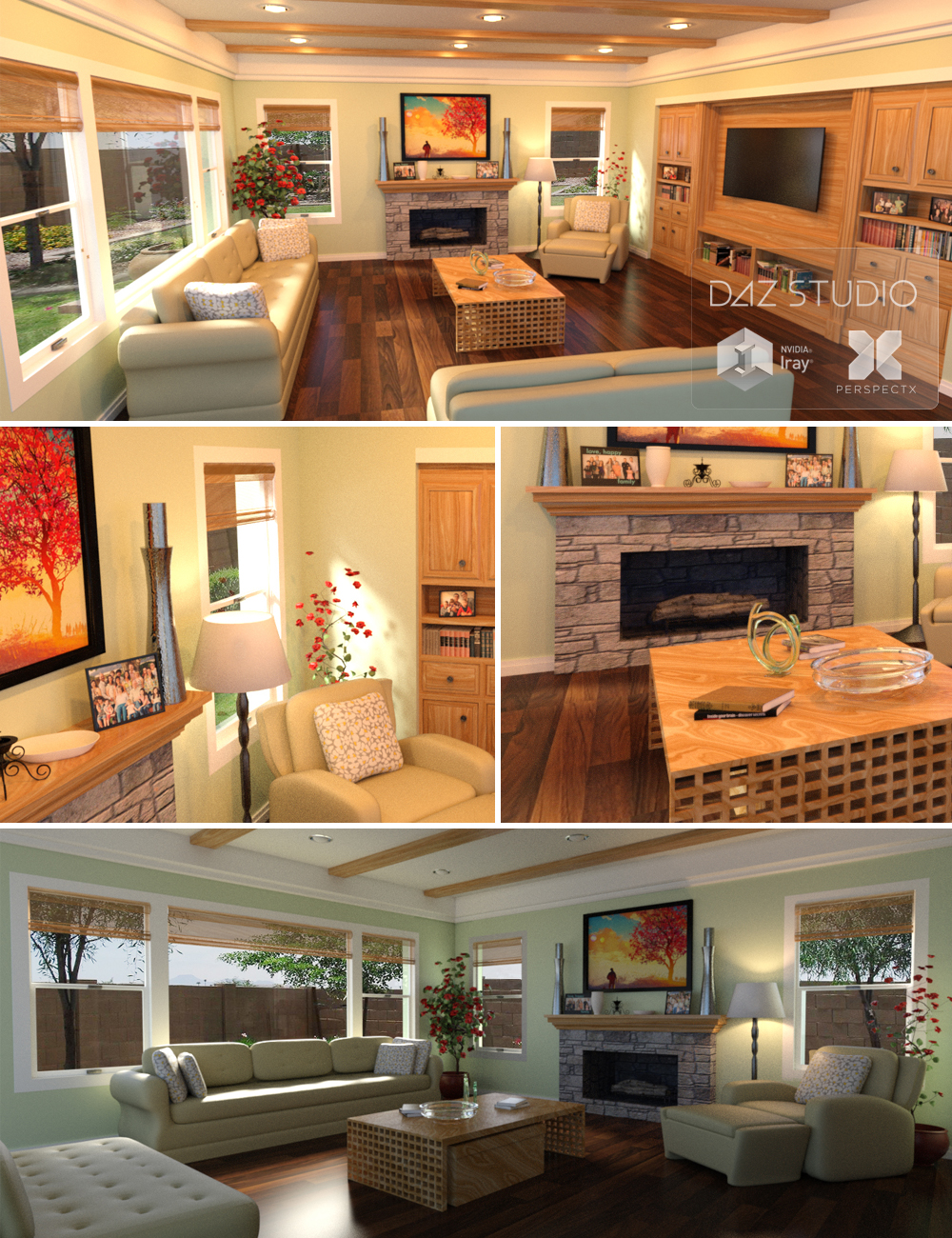 PerspectX Family Room by: PerspectX, 3D Models by Daz 3D