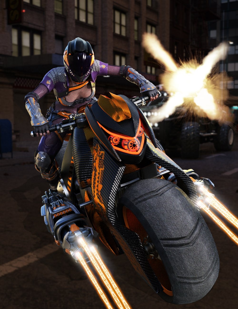 Galactic Racer Motorcycle by: Charlie, 3D Models by Daz 3D