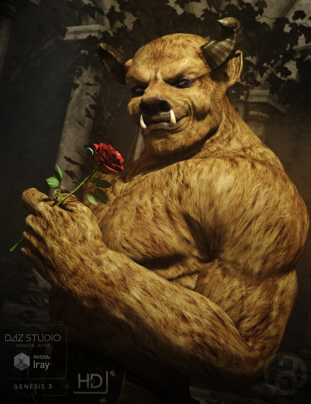 The Beast for Genesis 3 Male by: RawArt, 3D Models by Daz 3D