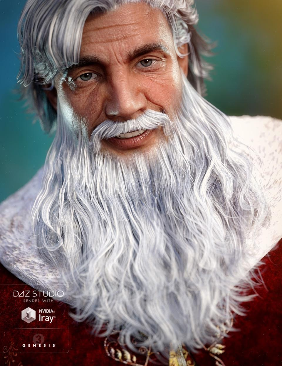 Santa Beard for Genesis 3 Male(s) by: goldtassel, 3D Models by Daz 3D
