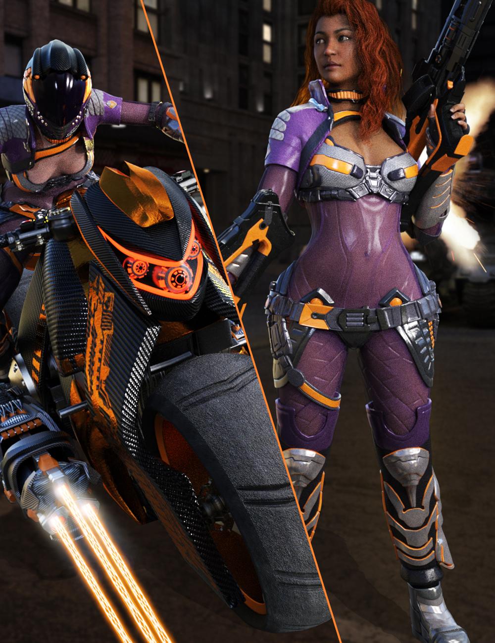 Galactic Racer Bundle by: , 3D Models by Daz 3D