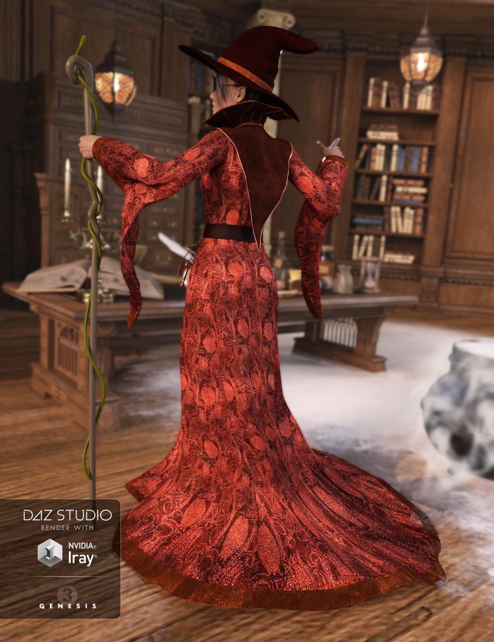 Sorceress for Genesis 3 Female(s) by: JGreenleesPoisenedLily, 3D Models by Daz 3D