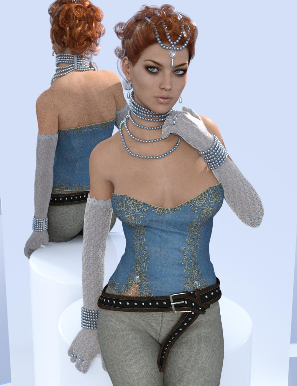 Duchess Pearls for Genesis 3 Female(s) by: Sshodan, 3D Models by Daz 3D