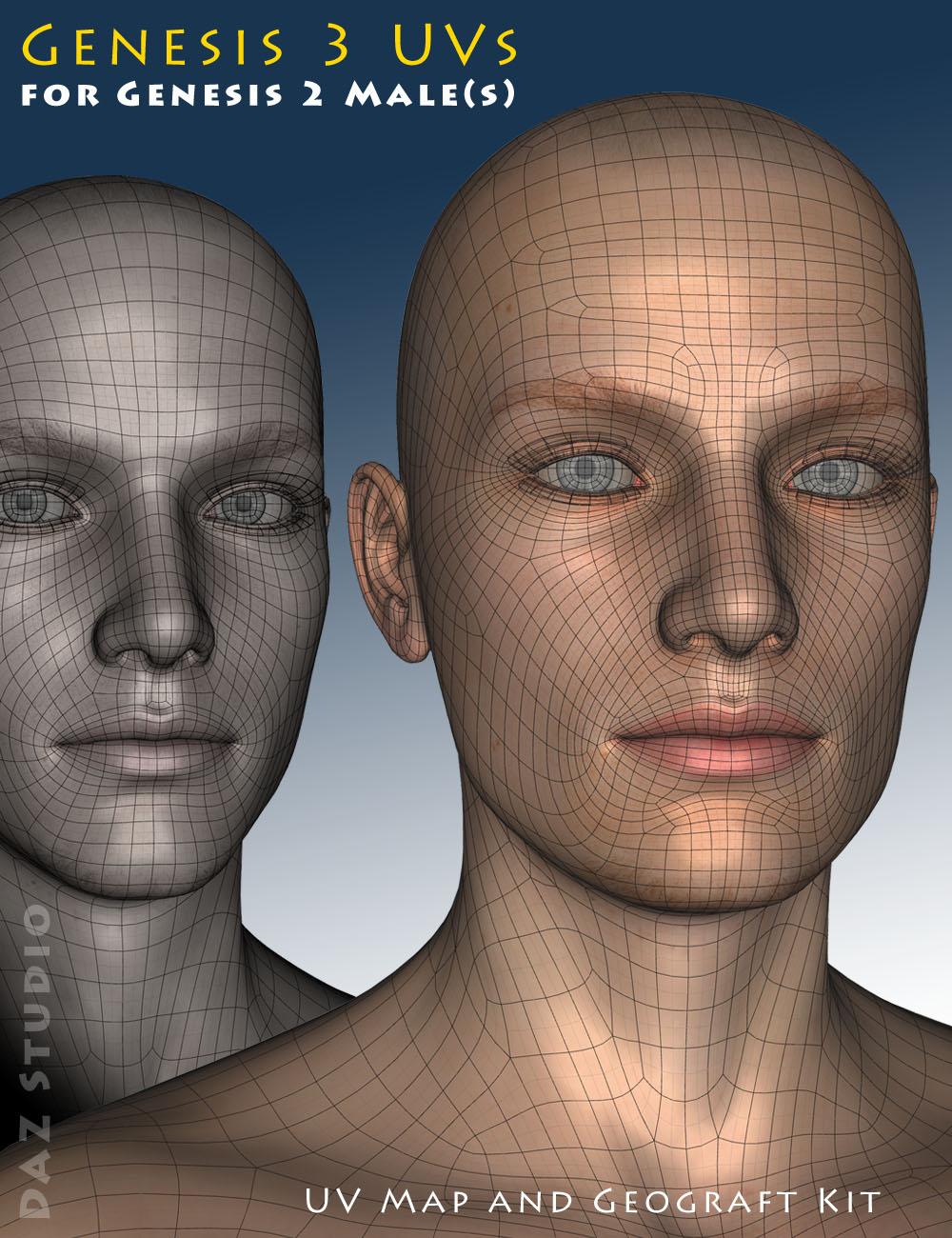 Genesis 3 UVs for Genesis 2 Male(s) by: Cayman Studios, 3D Models by Daz 3D