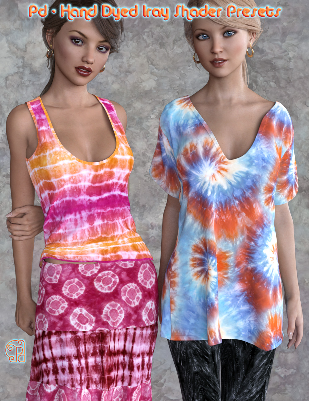 Pd Hand Dyed Iray Shader Presets by: parrotdolphin, 3D Models by Daz 3D