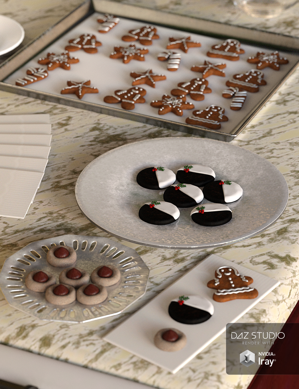 Christmas Cookies by: , 3D Models by Daz 3D