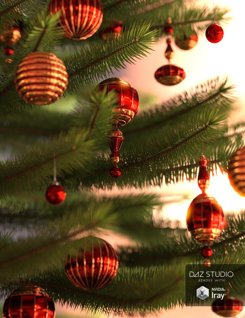 Yuletide Joy Ornaments by: , 3D Models by Daz 3D