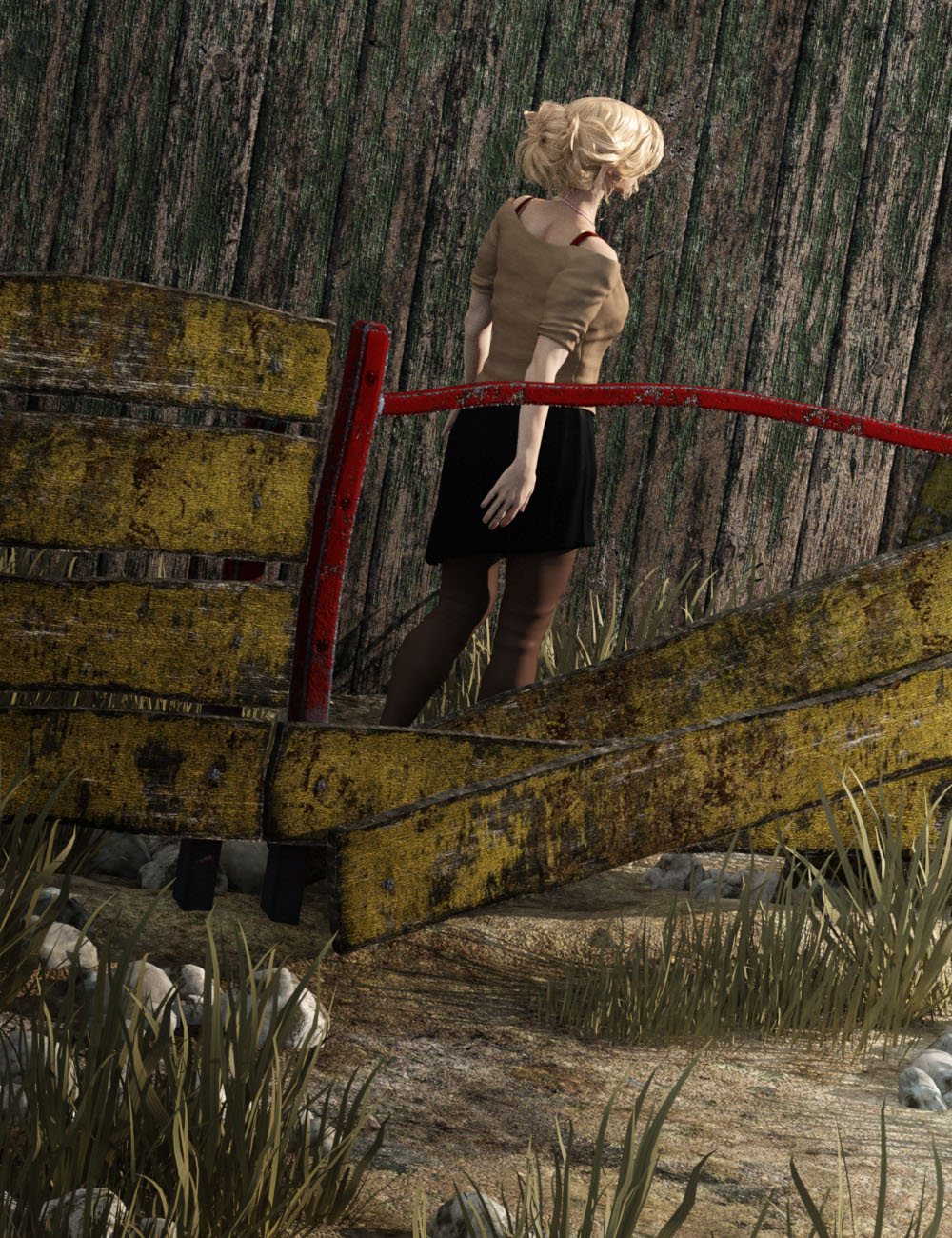 Wood Planks with Grounds by: vikike176, 3D Models by Daz 3D