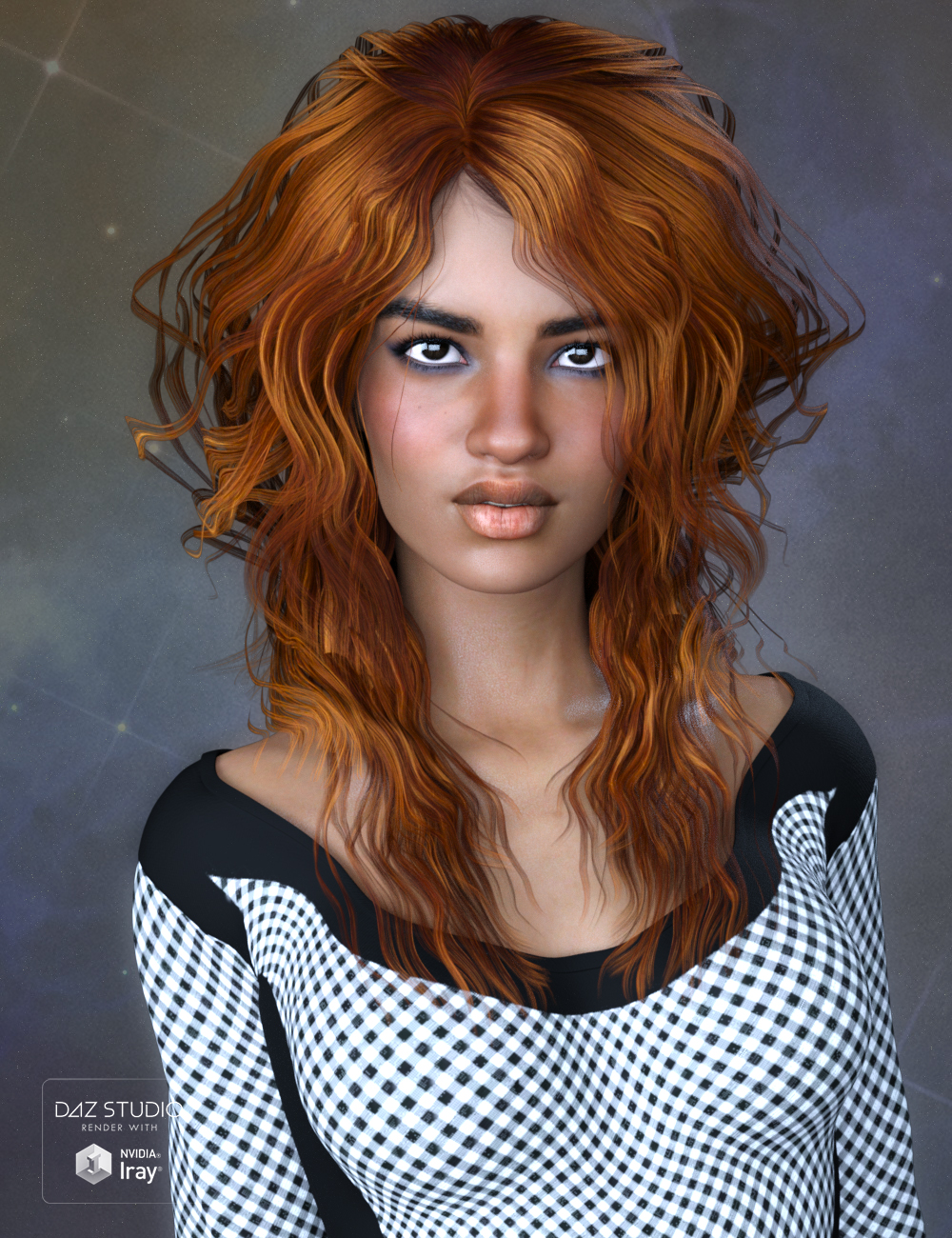 Chandra Hair for Genesis 3 Female(s) by: SWAM, 3D Models by Daz 3D