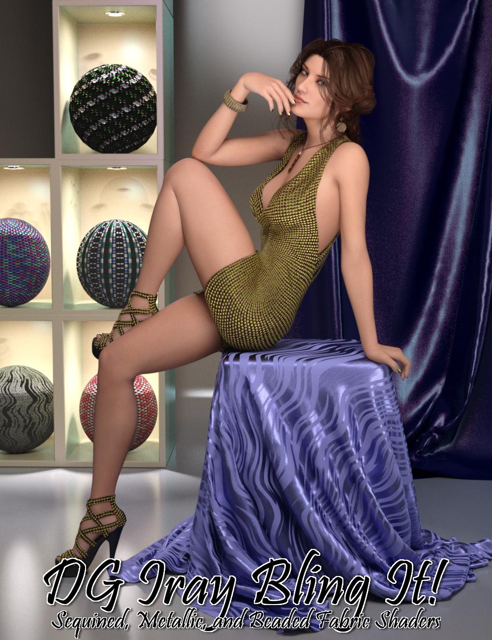 DG Iray Bling It! Shaders by: IDG DesignsDestinysGarden, 3D Models by Daz 3D