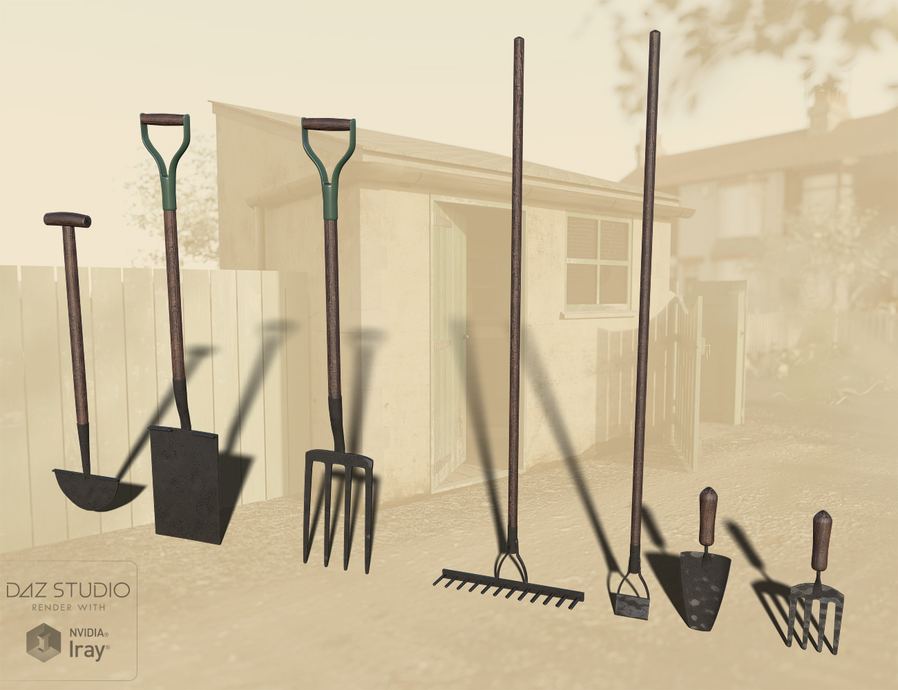 The Gardeners Potting Shed Tools by: 3ansonForbiddenWhispers, 3D Models by Daz 3D