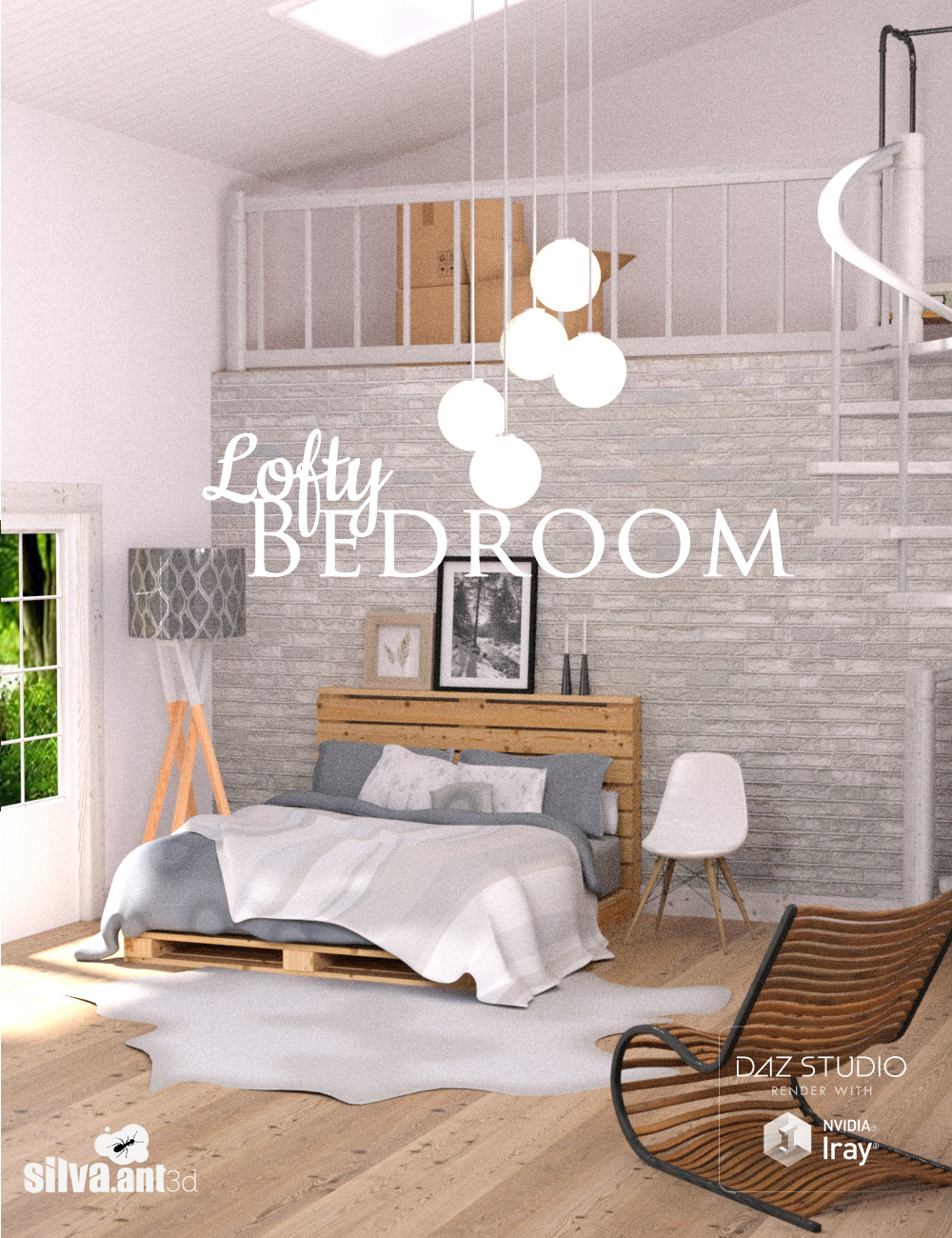 Lofty Bedroom by: SilvaAnt3d, 3D Models by Daz 3D
