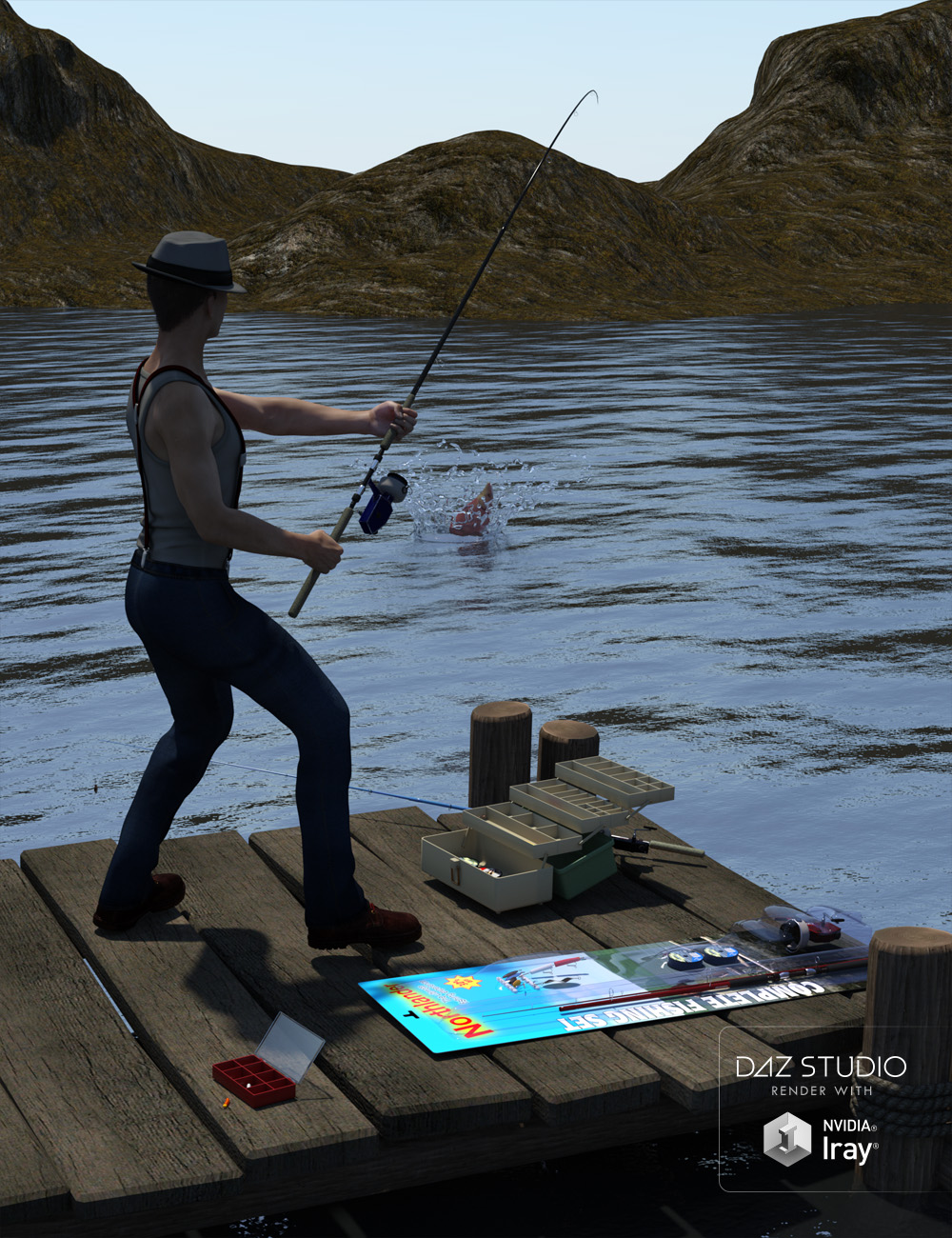 Gone Fishing - Angler's Essentials by: Code 66, 3D Models by Daz 3D