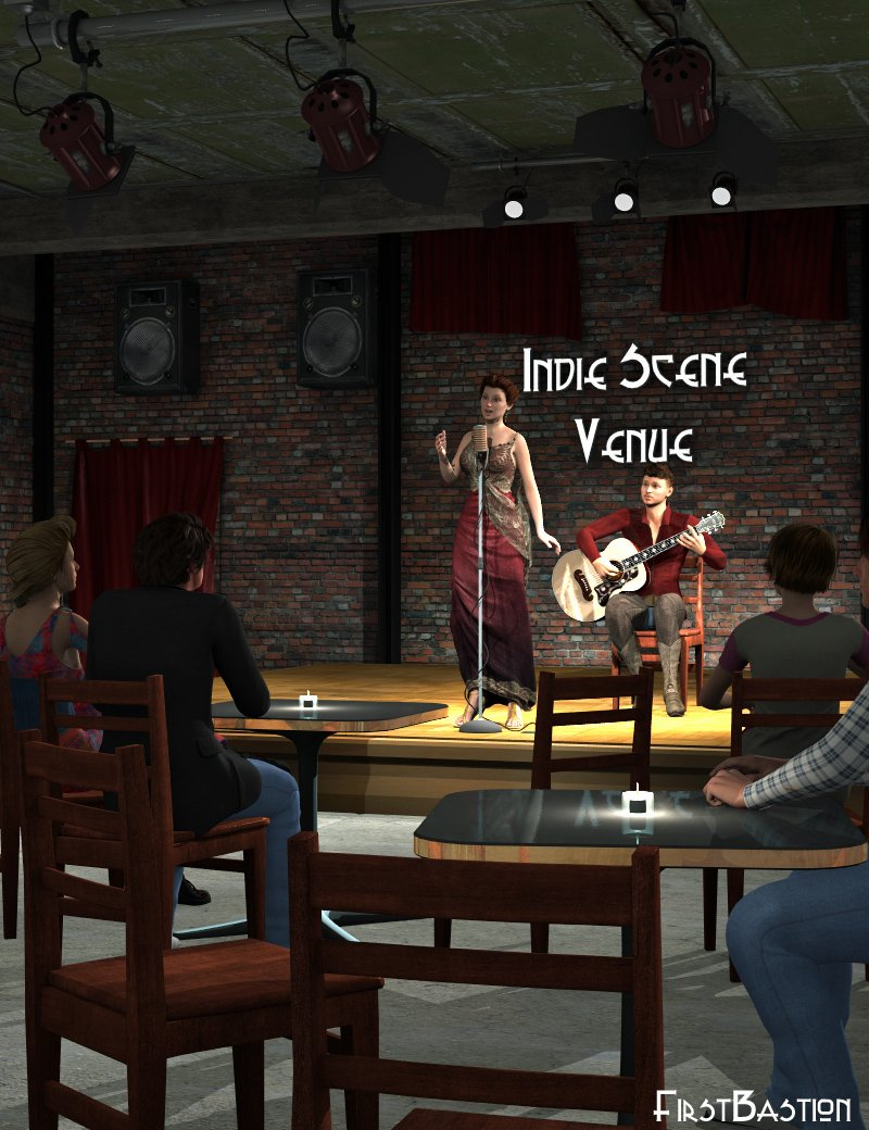 1stBastion's Indie Scene Venue Bar by: FirstBastion, 3D Models by Daz 3D