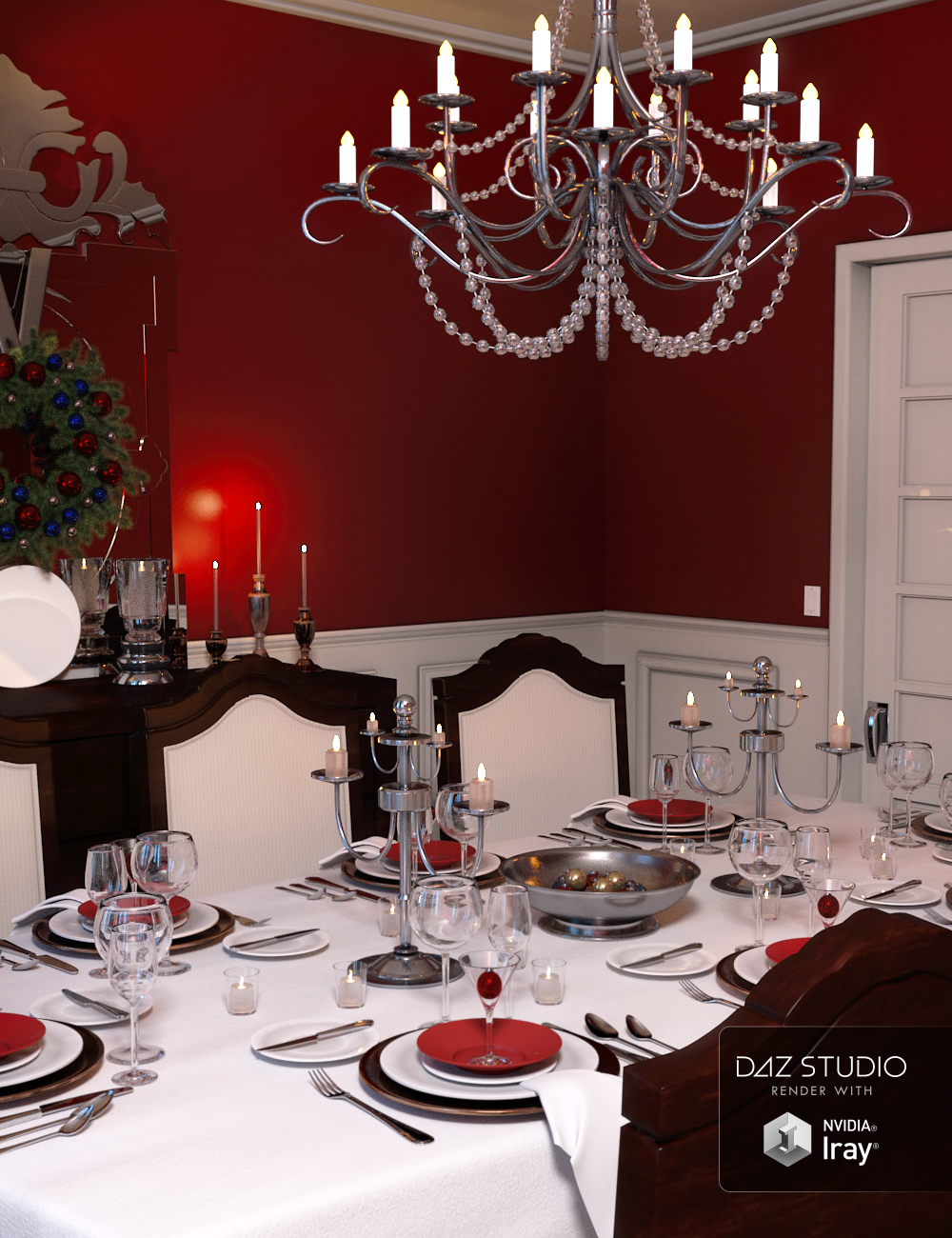 Christmas Dinner by: , 3D Models by Daz 3D