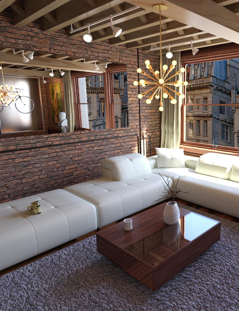 NY Living Room by: Digitallab3D, 3D Models by Daz 3D